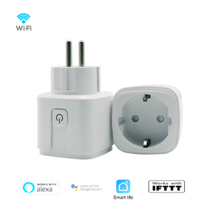 WiFi Smart Socket | Slimme WiFi Stekker Plug | Smart Socket werkt met App Control | Spraakbesturing via Google Home en Amazon Alexa | Duo Set