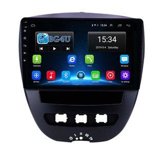 Navigatie radio Citroen C1 Peugeot 107 Toyota Aygo, Android OS, Apple Carplay, 9 inch scherm,  GPS, Wifi, Mirror link, Bluetoot