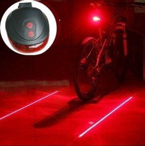 LED Lamp Fiets Verlichting Met Laser   Extra Veilig Fietsen   9 Verschillende Functie's   Achterlicht   Achter Lamp Fiets   Achterlamp met Laser