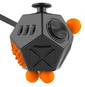 Fidget Cube 2.0 PRO met 12 speelkanten , nieuw model Stress Verminderende Speel Kubus   Vinger Friemel Kubus   Stress Bal   Rage van 2017