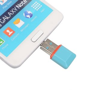 Micro SD kaart lezer USB stick + Micro USB aansluiting | Micro SD card reader USB 2.0 | TF kaart lezer USB stick | Micro USB & USB Adapter