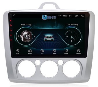 Navigatie radio Ford Focus, Android 8.1 OS, 9 inch scherm, GPS, Wifi, Mirror link, DAB+, Bluetooth, Canbus