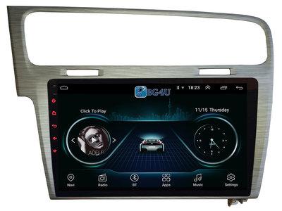 Navigatie radio VW Volkswagen Golf 7, Android 8.1, 10.1 inch scherm, Canbus, GPS, Wifi, Mirror link, OBD2, Bluetooth, 3G/4G, zilver kleurig