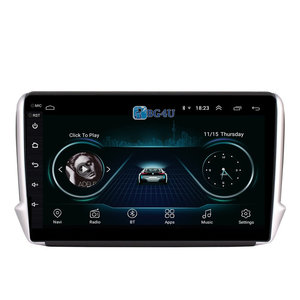 Navigatie radio Peugeot 2008 2015-2018, Android 8.1, 10 inch scherm, Canbus, GPS, Wifi, Mirror link, OBD2, Bluetooth, 3G/4G